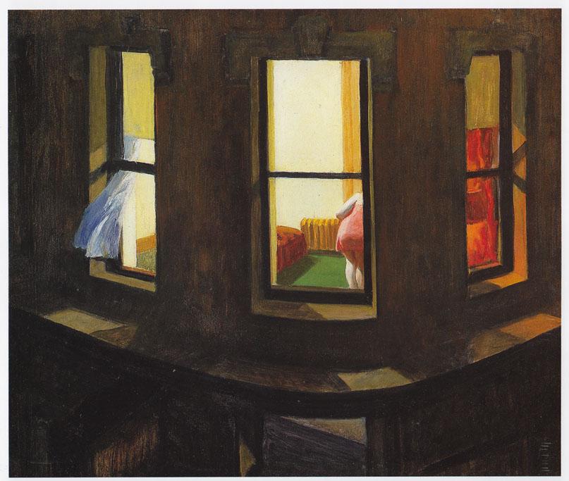 Ventanas de noche, Edward Hopper impresión en 11 X 14 montaje ...